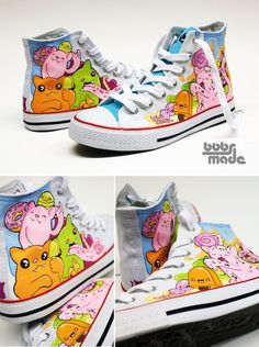Candy Cat Chucks by Bobsmade on DeviantArt