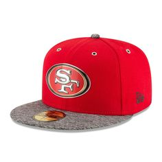San Francisco 49ers New Era Youth On-Stage 59FIFTY Fitted Hat - Scarlet