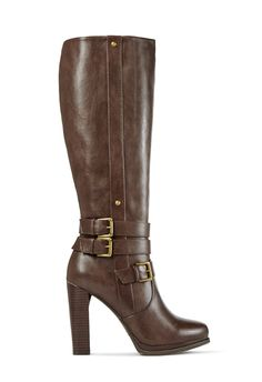 Haute and high heeled, Ashlyn by JustFab is the perfect tall boot for the season.