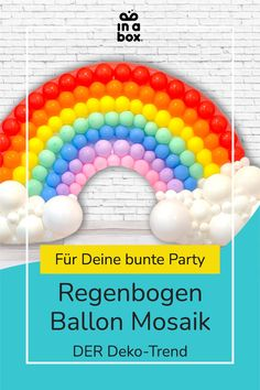 Das wunderbare, magische bunte Regenbogen Ballonmosaik ist nicht nur easy peasy zu Hause selbst gemacht, sondern auch noch der Hingucker auf jeder Party! Ob magische Einhornparty, bunter Kindergeburtstag oder fabelhafte Regenbogenfete, das DIY Ballon Mosaik passt einfach immer! Diy Ballon, Party Decoration, Party In A Box, Diy Box, Wild Ones, Diy Party, Bunt, Balloons, Baby Shower