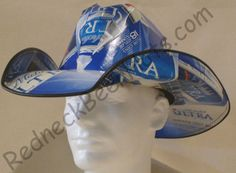 Michelob Ultra Cowboy Hat - Made out of recycled boxes.