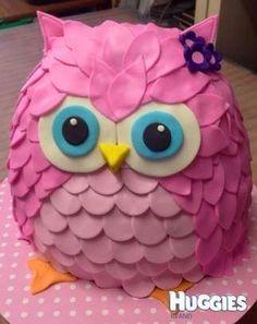 Owl Birthday Cakes for Girls Birthday Cakes Girls Kids, Owl Cake Birthday, Owl Birthday Parties, Cakes For Girls, Birthday Ideas, Happy Birthday, Fondant Cakes, Cupcake Cakes, Fruit Cakes