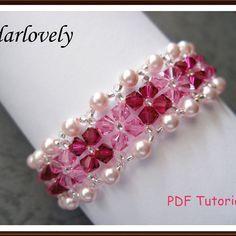 Ruby Pearl Rose Bracelet   JewelryLessons.com///