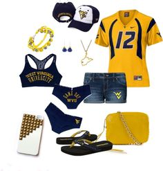 """""""WVU Mountaineer Football"""" by molark on Polyvore"""