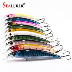 10PCS/lot 13.5G/11CM Fishing Lure Laser Minnow Lures Hard Bait Pesca isca artificial 10 Colors High Quality Hook Swimbait