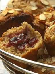 Jam-Filled Almond Muffins | KitchenDaily.com