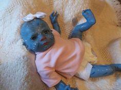 Reborn custom made to order baby Avatar newborn doll alien