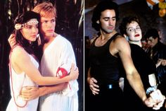 Left: Laura Harring and Jeff James in The Forbidden Dance; Eddie Peck and Melora Hardin in Lambada. Left, © Columbia Pictures, both images from Everett Collection.