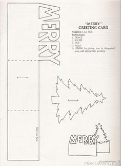 Pop up card template Pop Up Christmas Cards, Chrismas Cards, Christmas Card Template, Pop Up Cards, Christmas Paper, Christmas Greeting Cards, Merry Christmas, Kirigami, Pop Up Karten