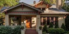 Craftsman   Arts & Crafts   Bungalow...Love the Dormer window, but skip the 2-story, the dormer fakes it, and the wrap-around porch, tall windows on front!
