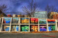 Beautiful mural Duckworth Street , St. John's , Newfoundland, via Flickr. Newfoundland Canada, Newfoundland And Labrador, Canada Cruise, Canada Travel, Gros Morne, Discover Canada, Great Vacation Spots, Ocean Sounds, Diego Rivera