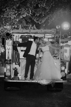 Grand exit on a firetruck! #wedding #firefighter #firemen #fireman #fireengine