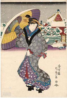 View of Yanagishima in the Easterm Capital (Tôto Yanagishima zu)  「東都柳島図」 Japanese Edo period 1830s Artist Utagawa Kunisada I (Toyokuni III) (Japanese, 1786–1864)