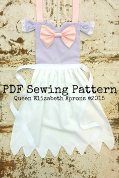DAISY DUCK Disney Junior Jr. inspired Child Costume Apron Pdf Sewing PATTERN. Girls sizes 2-8 Dress up Play Disneyland Birthday Party favor