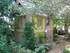 If you find out that you don't have the space for a granny studio, garden studio, outdoor cottage then you can look into a garden shed. The name garden shed conjures up to mind a rough lookin… - My Cottage Garden Garden Buildings, Garden Structures, Outdoor Structures, Love Garden, Dream Garden, Home And Garden, Garden Homes, Indoor Garden, Indoor Plants