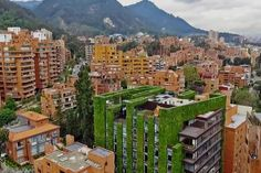 Bogota's Santalaia Building is the world largest vertical garden #architecture #environment #garden #santalaia #verticalgarden