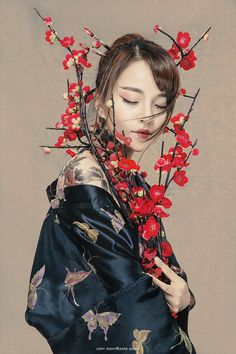 """Old Time Fengyue's """"Red Painting"""" – Photography Studio Photography Poses, Creative Portrait Photography, Stunning Photography, Creative Portraits, Photography Women, Photography Tutorials, Digital Photography, Portrait Photos, Female Portrait"""