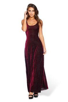 Burned Velvet Magenta Mandala Maxi Dress - LIMITED