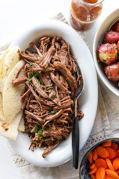 Slow Cooker Mexican Pot Roast | http://foodiecrush.com