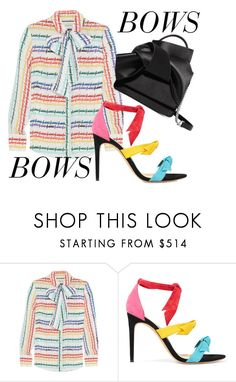 """Bows"" by wardrobementor on Polyvore featuring Gucci, Alexandre Birman and N°21"