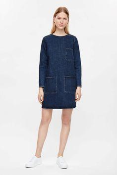 COS | Boxy pocket denim dress