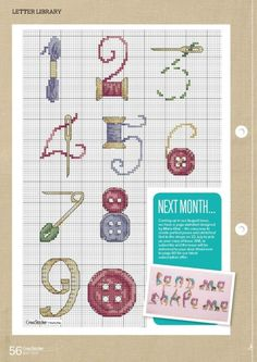 Embroidery letters patterns numbers new ideas Cross Stitch Numbers, Cross Stitch Letters, Mini Cross Stitch, Funny Cross Stitch Patterns, Cross Stitch Designs, Cross Stitching, Cross Stitch Embroidery, Stitch Crochet, Embroidery Letters