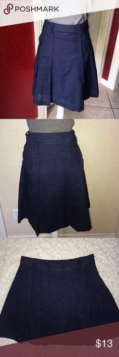 Isaac Mizrahi for Target Navy Blue A Line Skirt Fully lined a line skirt in excellent condition! Isaac Mizrahi Skirts