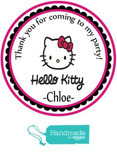 Hello KItty Party Favors Themed Personalized Birthday Party Favors- Custom Birthday Party Favor Stickers - Treat Tag Toppers- 24 Stickers Popular Size 2.5 Inches. Peel- and- Stick Stickers from Custom Party Favors, Handmade Craft , and Educational Products https://www.amazon.com/dp/B01HQEDHDE/ref=hnd_sw_r_pi_dp_aVNIxbG0TYF0M #handmadeatamazon