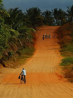 Red earth ~ Mozambique road. In 2014 I had the opportunity to visit Mozambique for 2 weeks! Amazing land and beautiful people!