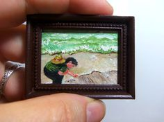 Miniature 1:12 Scale Handmade Original Oil by ABrushWithSmallness