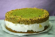 matcha & yuzu cream-quark pie