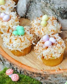 Coconut Nest Cupcakes -- one oftheflavors can have this!