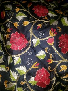 Inspiring Talent - Roses in Kantha embroidery