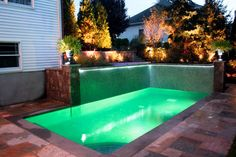 Swimming Pool and Water Feature Lighting - contemporary - pool - new york - Cipriano Landscape Design