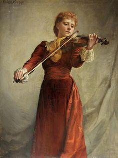 Emma Irlam Briggs (1867-1950) - The Violinist