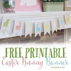 Free Printable Bunny Banner - Landee See Landee Do