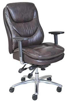 Serta 45635 Smart Layers Commercial Series600 Task Puresoft Faux Leather Chair Brown >>> See this great product.