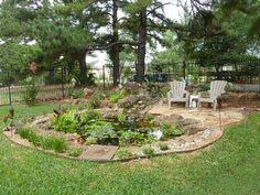 Water Garden--with flagstone border