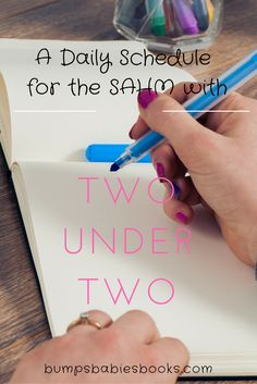 Tips for the SAHM with two under two--a possible daily schedule