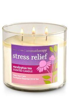 Stress Relief - Eucalyptus Tea 3-Wick Candle - Keep your calm with Eucalyptus Essential Oil & Tea