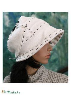 SASKIA piszkos-fehér flanel-kalap b2db3d90bf