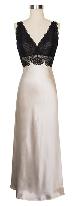 A longer version of the Morgan Chemise, the Morgan Long Gown by NK iMode will have you lounging in luxury every time you put it on!