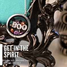 Get in the Halloween spirit with your Origami Owl Living Locket!