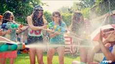 Cimorelli messing with squirt guns :)