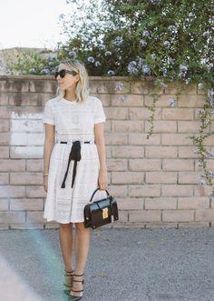 white summer dress | Damsel In Dior