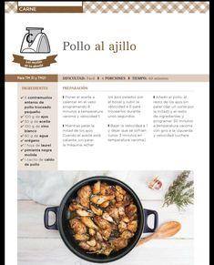 Pollo al ajillo thermomix Food N, Pizza, Cooking, Healthy, Angeles, Kitchen, Egg Recipes, Garlic Chicken, Garlic