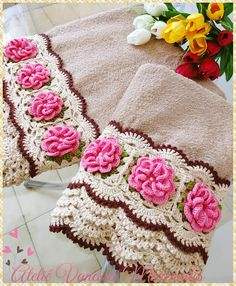 Image gallery – page 316448311315802087 – artofit – Artofit Crochet Flower Tutorial, Crochet Lace Edging, Crochet Borders, Crochet Stitches Patterns, Crochet Designs, Crochet Doilies, Crochet Flowers, Stitch Patterns, Crochet Towel