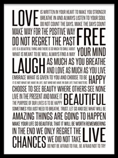 A typography print / message Poster with lots of texts in different sizes, manifesto. Stylish poster with many good messages. Black and white print. You can find more posters with texts in our webshop. Home Quotes And Sayings, Family Quotes, Quotes To Live By, Best Quotes, Life Quotes, Inspirational Posters, Motivational Posters, Inspirational Message, Quote Posters