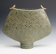 Vessel with Birds: Jim and Shirl Parmentier: Ceramic Sculpture | Artful Home