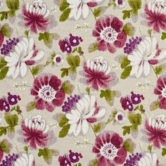 The K4005 upholstery fabric by KOVI Fabrics features Contemporary, Floral, Foliage pattern and Beige or Tan or Taupe, Light Green, Lilac or Purple, Pink or Rose, White or Off-White as its colors. It is a Linen or Silk Looks, Prints type of upholstery fabric and it is made of 70% cotton, 30% Linen material. It is rated Exceeds 22,000 Double Rubs (Heavy Duty) which makes this upholstery fabric ideal for residential, commercial and hospitality upholstery projects.Call 800-8603105